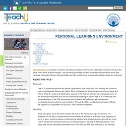 Personal Learning Environment | iTeachU
