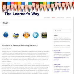 Why build a Personal Learning Network?