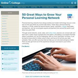 50 Great Ways to Grow Your Personal Learning Network