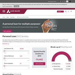 Personal Loan EMI Calculator - AxisBank
