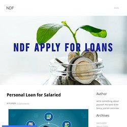 Personal Loan for Salaried - NDF