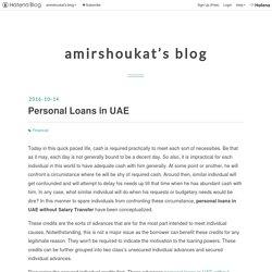 Personal Loans in UAE - amirshoukat's blog