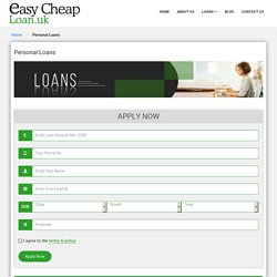 Personal Loans for Bad Credit People