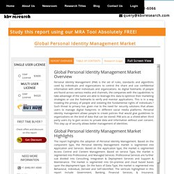 Global Personal Identity Management Market - Market Research Report & Analytics Tool - KBV Research