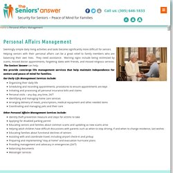 Personal Affairs Management