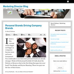 Personal Brands Driving Company Brands