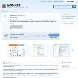 Personal Menu :: Modules pour Firefox