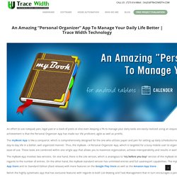 """An Amazing """"Personal Organizer"""" App To Manage Your Daily Life Better"""