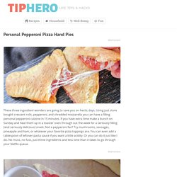 Personal Pepperoni Pizza Hand Pies