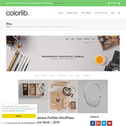 30+ Best Personal Portfolio WordPress Themes 2015