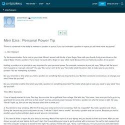 Meir Ezra : Personal Power Tip