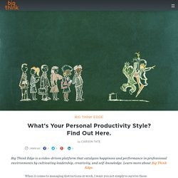 What's Your Personal Productivity Style? Find Out Here.