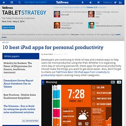 10 best iPad apps for personal productivity
