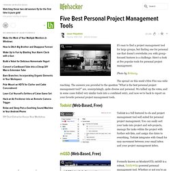 Five Best Personal Project Management Tools