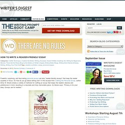 Writers digest personal essay