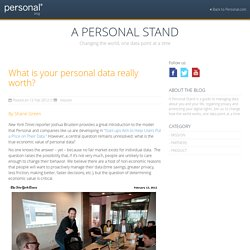 What is your personal data really worth? | A Personal Stand
