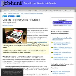 Guide to Personal Online Reputation Management