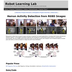 Personal Robotics: Human Activity Detection