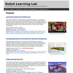 Personal Robotics: Projects