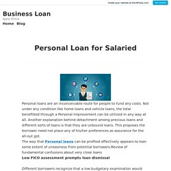 Personal Loan for Salaried – Business Loan