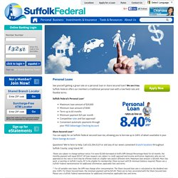 Apply for SFCU Personal & Secured Loans and Get Approved Fast