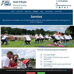 Personal Trainer Services - Niall Fitness - Teddinghton