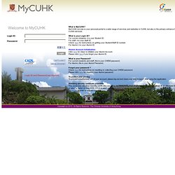 MyCUHK Sign-in