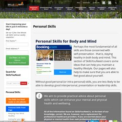 Personal Skills - For Body and Mind
