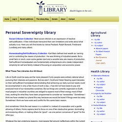 Personal Sovereignty library