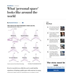 What 'personal space' looks like around the world