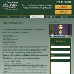 Personal Injury Law - Stephens, Fiddes, McGill & Associates PC