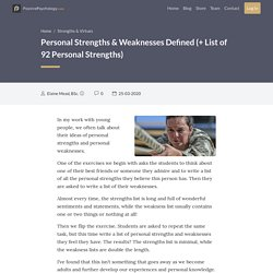 Personal Strengths & Weaknesses Defined (+ A List of 92 Strengths)