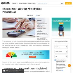How To Get a Personal Loan for Abroad Studies - Without Collateral