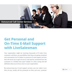 Get Personal and On-Time E-Mail Support with LiveSalesman