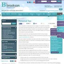 sole trader taxes uk