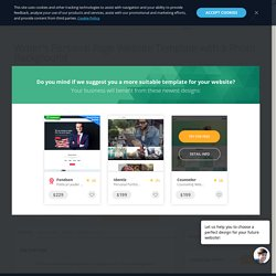 Writers Personal Page Website Template with a Photo Background - MotoCMS