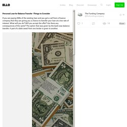 Personal Loan Balance Transfer - thefundingcompany