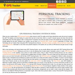 Personal GPS Tracker in Delhi – Order Now 9999994242