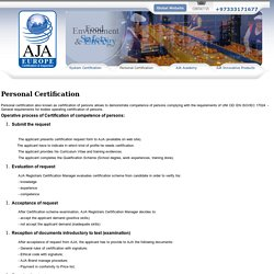 ISO 20000 Personal Certification – Personal Certification
