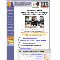 My Personal Trainer Fitness Network - Find Personal Trainers - Personal ...