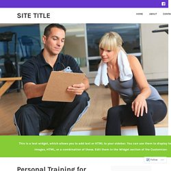 Leisure World Personal Training