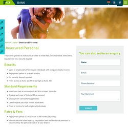 Personal Loan, Unsecured Loan, Unsecured Personal Loans in Kenya - KCB Bank Group