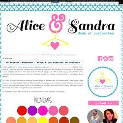 Ma Personal Wardrobe : étape 4 ton nuancier de couleurs - Alice & Sandra : blog de deux curieuses dingues de Mode !