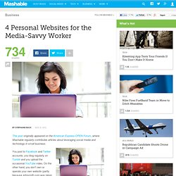 4 Personal Websites for the Media-Savvy Worker