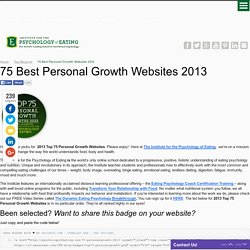 75 Best Personal Growth Websites 2013