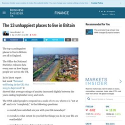 The 13 unhappiest places to live in Britain