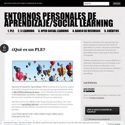 ENTORNOS PERSONALES DE APRENDIZAJE/SOCIAL LEARNING