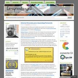 Entornos Personales para elAprendizajePermanente « [e-aprendiz