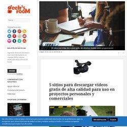5 sitios para descargar vídeos gratis de alta calidad para uso en proyectos personales y comerciales