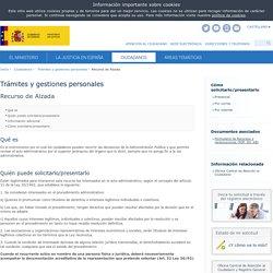 Recurso de Alzada - Trámites y gestiones personales